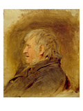 Profile Study of an Elderly Man, 1884 (Oil on Panel) Reproduction proc&#233;d&#233; gicl&#233;e par John Faed
