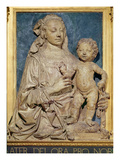 Madonna and Child, C.1470 (Glazed Terracotta) (Also See 79880) Giclée-tryk af Andrea del Verrocchio