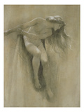 Female Nude Study (Chalk on Paper) Giclee Print by John Robert Dicksee