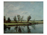 Water Meadows Near Salisbury, C.1820 (Oil on Canvas) Giclee Print by John Constable