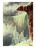 Niagara Falls in Winter Giclee Print by Regis Francis Gignoux