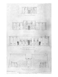 Restoration of the Temple of Ramases II at Thebes, Drawn and Measured by F. Avondale Giclee Print by Frederick Catherwood