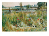 At the Water's Edge (W/C and Bodycolour) Giclee Print by John William Buxton Knight