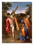 Christ Appearing to St. Peter on the Appian Way, 1601-02 (Oil on Panel) Giclée-tryk af Annibale Carracci