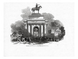 The Great Wellington Statue as it Would Appear from Constitution Hill Giclee Print by Ebenezer Landells