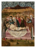 The Entombment of Christ (Tempera on Panel) Giclee Print by  Spanish