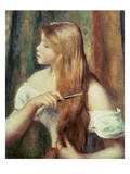 Blonde Girl Combing Her Hair, 1894 Giclee Print by Pierre-Auguste Renoir