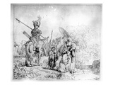 The Baptism of the Eunuch, 1641 (Etching) Giclee Print by  Rembrandt van Rijn