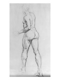 Study of a Nude Woman, 1915 (Charcoal on Paper) Giclee Print by Isaac Rosenberg