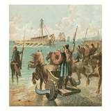 Romans Conquer Britain Giclee Print by  English