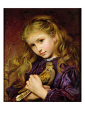 The Turtle Dove (Oil on Canvas Laid Down on Board) Giclee Print by Sophie Anderson