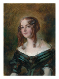 Girl in a Green Dress (Oil on Board) Giclee Print by William Etty