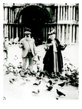 Claude Monet (1840-1926) and His Wife, Alice (1844-1911) St. Mark's Square, Venice, October 1908 Giclee Print by  French Photographer