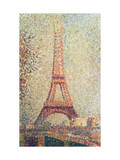 The Eiffel Tower, 1889 (Panel) Giclee Print by Georges Seurat
