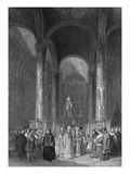 Interior of the Grand Cathedral of the Assumption, Engraved by T. Higham, 1835 (Engraving) Giclee Print by Alfred Gomersal Vickers