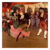 Marcelle Lender Dancing the Bolero in &#39;Chilperic&#39;, 1895 (Oil on Canvas) Giclee Print by Henri de Toulouse-Lautrec