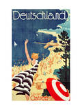 Deutschland: an Der Ostsee, C.1930 (Colour Lithograph Giclee Print by Richard Friese