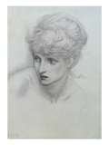 Study of a Girl's Head (See also 198346) Giclee Print by Edward Burne-Jones