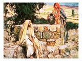 Christ and the Woman of Samaria Giclee Print by William Hatherell