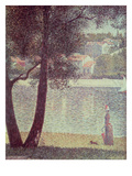 The Seine at Courbevoie, 1885 (Oil on Canvas) Giclee Print by Georges Pierre Seurat