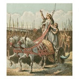 Boadicea and Her Army Giclee Print by  English