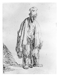 Beggar in a High Cap, C.1630 (Etching) Giclee Print by  Rembrandt van Rijn