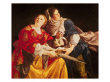 Judith with the Head of Holofernes (Oil on Canvas) Giclee Print by Orazio Gentileschi