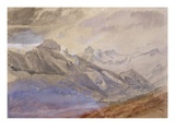Mont Dauphiny, Near Chartreuse (W/C and Pencil on Paper) Giclee Print by John Ruskin