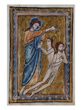 The Creation of Adam and Eve from a Book of Bible Pictures, C.1250 (Vellum) Giclee Print by William de Brailes