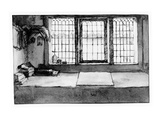 Artist's Worktable at the Window Overlooking the River, C.1650 (Pen, Ink and Wash on Paper) Giclee Print by Willem Drost