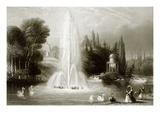 The Fountain at Wilhelmshohe, Near Cassel Reproduction procédé giclée par  English