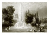The Fountain at Wilhelmshohe, Near Cassel Giclee Print by  English