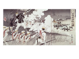 The Battle of Pyongyang During the Sino-Japanese War, No.36 from an Album, Pub. 1894, Giclee Print by  Japanese