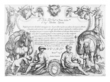 Frontispiece to a Series of Hunting Scenes, 1609 (Etching) Giclee Print by Antonio Tempesta