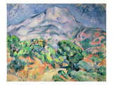 Montagne Sainte-Victoire from the South-West with Trees and a House Giclee Print by Paul Cézanne