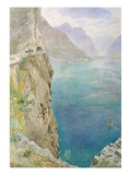 On the Italian Coast, 1896 (W/C on Paper) Giclee Print by Harry Goodwin