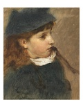 Study of a Young Girl Giclee Print by Edward John Gregory