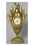 Clock Vase with an Eagle, C.1800 (Gilded Bronze) Giclee Print by  French
