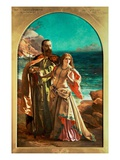 Prospero and Miranda, c.1850 Giclee Print by William Maw Egley