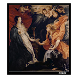 Annunciation, 1609 (Oil on Canvas) Lmina gicle por Peter Paul Rubens