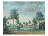 The Farm, Parc Du Raincy (Gouache on Paper) Giclee Print by  Carmontelle