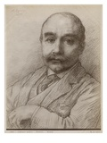 M. Adams, 1899 (Black Lead on Paper) Giclee Print by Alphonse Legros