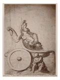 Triumphant France, C.1674 (Pierre Noire and Grey Wash on Paper) Premium Giclee Print by Charles Le Brun