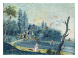 The Lake and Chinese Pavilion in the Park at Le Raincy, C.1754-93 (Gouache on Paper) Giclee Print by  Carmontelle