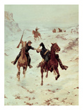The Despatch Riders, 1900 (Oil on Canvas) Giclee Print by Charles Schreyvogel