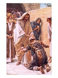 The Healing of the Leper Premium Giclee Print by Harold Copping