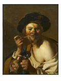 The Drinker (Oil on Canvas) Giclee Print by Theodore van, called Dirk Baburen