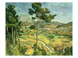 Landscape with Viaduct: Montagne Sainte-Victoire, c.1885-87 Giclee Print by Paul Cézanne