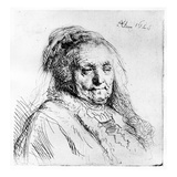 Portrait of the Artist's Mother, 1628 (Etching) Giclee Print by  Rembrandt van Rijn