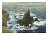 Land's End, 1872 (Oil on Board) Giclee Print by John Brett